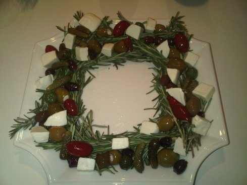 Rosemary Olive Cheese wreath